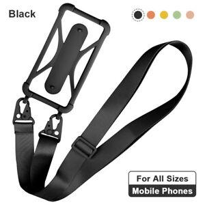 Silicone Lanyard Case Cover Mobile Phone Holder Sling Neck Strap Belt