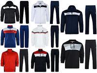 Mens Fila  Asics Retro Full Zip Tracksuit Top Track Pants Sport Running Zip