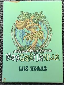 "Vintage Fridge Magnet Margaritaville Las Vegas ""The Most Misterious Calling..."""
