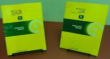 John Deere 108 (+ Others) Lawn Tractor Operator's Manual set of 2 1980's