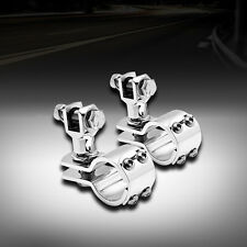 """1-1/4"""" Highway Engine Guard Crash Bar Mount Clamps Foot Pegs For Harley Touring"""