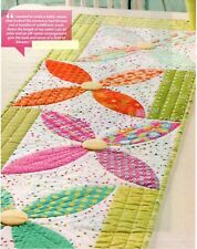 Summer Blooms Table Runner Quilt Pattern Pieced/Applique CM