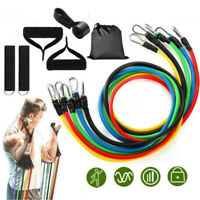 11 PCS Resistance Band Set Strength Training Exercise Fitness Tube Workout Bands