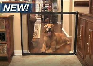 Magic Gate for Dogs Pet Safety Guard Mesh Dog Gate Portable Folding Safety Guard