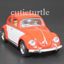Kinsmart 1967 Classic Volkswagen Beetle Bug 1:32 Diecast Car 2 Tone Orange White