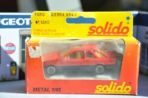 Solido ancien Ford sierra XR4i 1986 1/43 N°1340 en boite