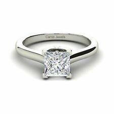 1.00 Ct. 14k White Gold Princess Cut Diamond Engagement Ring
