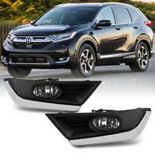 For Chrome Trim 2017-2018 Honda CRV CR-V Bumper Fog Lights Driving Left+Right