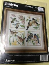 Janlynn Four Birds Aida 14 Counted Cross Stitch #125-46 by Donna Giampa New