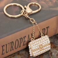 Crystal Rhinestone Purse Keychain Keyring Key Ring Chain Bag Purse Charm Pendant