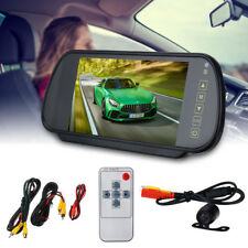 """7"""" LCD Mirror Monitor + Wired Car Reverse Rear View Backup Camera Night"""
