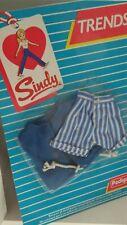 Vintage Pedigree Sindy Boxed 1985 TRENDS Stripe Shorts Belt Jacket   NEW 43053