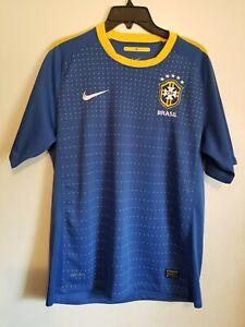 Brasil Soccer Futbol Jersey, Mens Medium, Brazil Nike Football shirt Dri-Fit