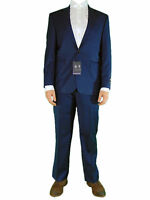 AUSTIN REED Mens Navy Striped Pattern Business Suit Jacket and Trousers NEW