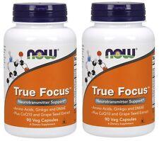 Now Foods True Focus, 90 Veg Capsules, 2 Pack