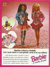 X1042 BARBIE - Colori e gioielli - Mattel - Pubblicità 1993 - Advertising