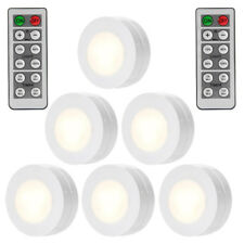 6 Pack LED Round Puck Light Dimmable Cabinet Closet Touch Lamp Battery Powered