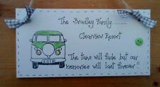Personalizzato Roulotte Camper Van famiglia ricordi delle vacanze Targa Sign