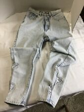 Vintage Jordache Acid Wash High Waist Mom Jeans Lace Leg Size 9/10
