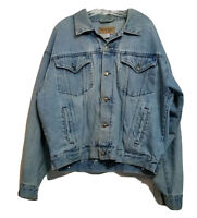Wrangler Hero Men's Vintage Denim Jeans ~ Sz L ~ Blue ~ Long Sleeve