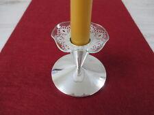 Tropfenfänger Bobeche Gewellt silber Spitze für Kerzenständer Wachsstopper