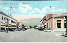 MONROVIA, California  CA    BUSINESS SECTION Street Scene  1923   Postcard