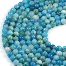 Semi-Precious Natural Hemimorphite 8mm Round Gemstone Jewellery Making Beads ...