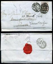 1885 Redirected London to Bath to Cambridge 1d Paid 1d to Pay