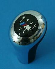 M GEAR KNOB CHROME Leather BMW E30/E36/E46/E34 /E39/E32