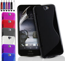 ULTRA SLIM GEL CASE COVER POUCH & FREE SCREEN PROTECTOR FOR HTC ONE A9