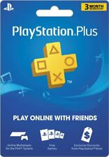 New Sony PlayStation Plus 3 Month Membership Card - Shipping Only