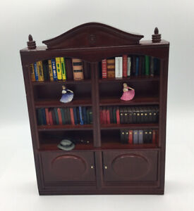 Dolls House Large Bookcase With Books And Ornaments