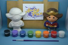 Paint Your Own Supergirl Wonder Woman Superhero Gift Set Figure Him Her Birthday