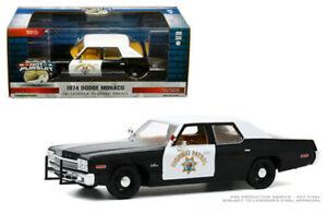 GREENLIGHT 1/24 1974 DODGE MONACO CALIFORNIA HIGHWAY PATROL POLICE CAR 85511