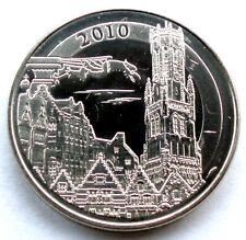 WORLD HERITAGE 2010 BELGIUM Historical Center of Bruge UNC Medal 29mm 12g I6.4