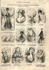 Bustes portraits acteurs du foyer de la Comédie-Française à ILLUSTRATION 1857
