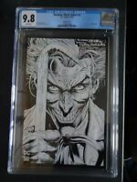 CGC Comic graded 9.8 Three jokers #1 cover Key issue sketch cover C 1:100