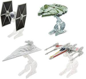 Disney Mattel Star Wars Hot Wheels Star Space Ships Tie X Wing Fighter Falcon