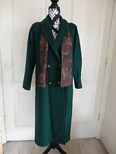 Mauries S Green Wool Long Jacket