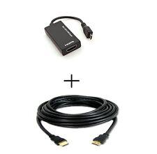 MHL Micro USB a HDMI HDTV Adaptador Para Samsung S2/S3/Note 2 Con Cable Hdmi 3M