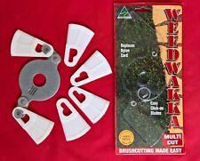WEEDWAKKA MULTI CUT PLASTIC BRUSHCUTTER BLADE + BLADES CUTS GRASS & WOODY WEEDS