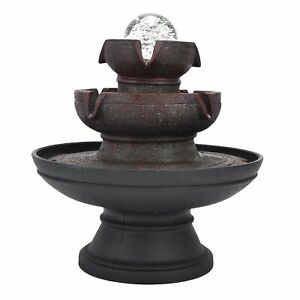 LED Tabletop Waterfall Household Lightweight Durable Elegant Mute Water Fountain
