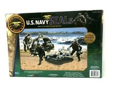 "US Military Navy Seals Action Kids Child Play Set Action 3 3/4"" Figures Vehicles"
