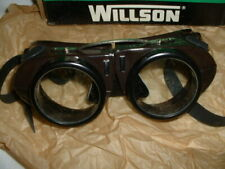 NOS Vintage WILLSON Safety Glasses STEAMPUNK Goggles Motorcycle Kover Mor in BOX
