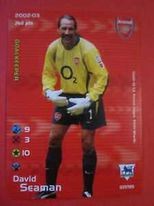 David Seaman of Arsenal - Subbuteo 2002/03 Premier League card