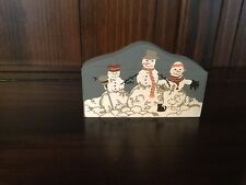 """Cats Meow 1989 Accesssories Collection, """"Snowmen� Retired 12/31/94"""