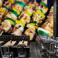 Barbecue Foods Drinks Skews Wallpaper Mural Photo Kitchen Restaurant Poster