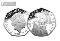 2017 UK Benjamin Bunny CERTIFIED BU 50p [Ref 446W]