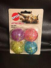 Spot Lattice Balls 4 Pack Cat Toys Plastic Balls
