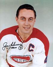 Le Gros Bill Jean Beliveau Montreal Canadiens Signed Captain Portrait Photo!